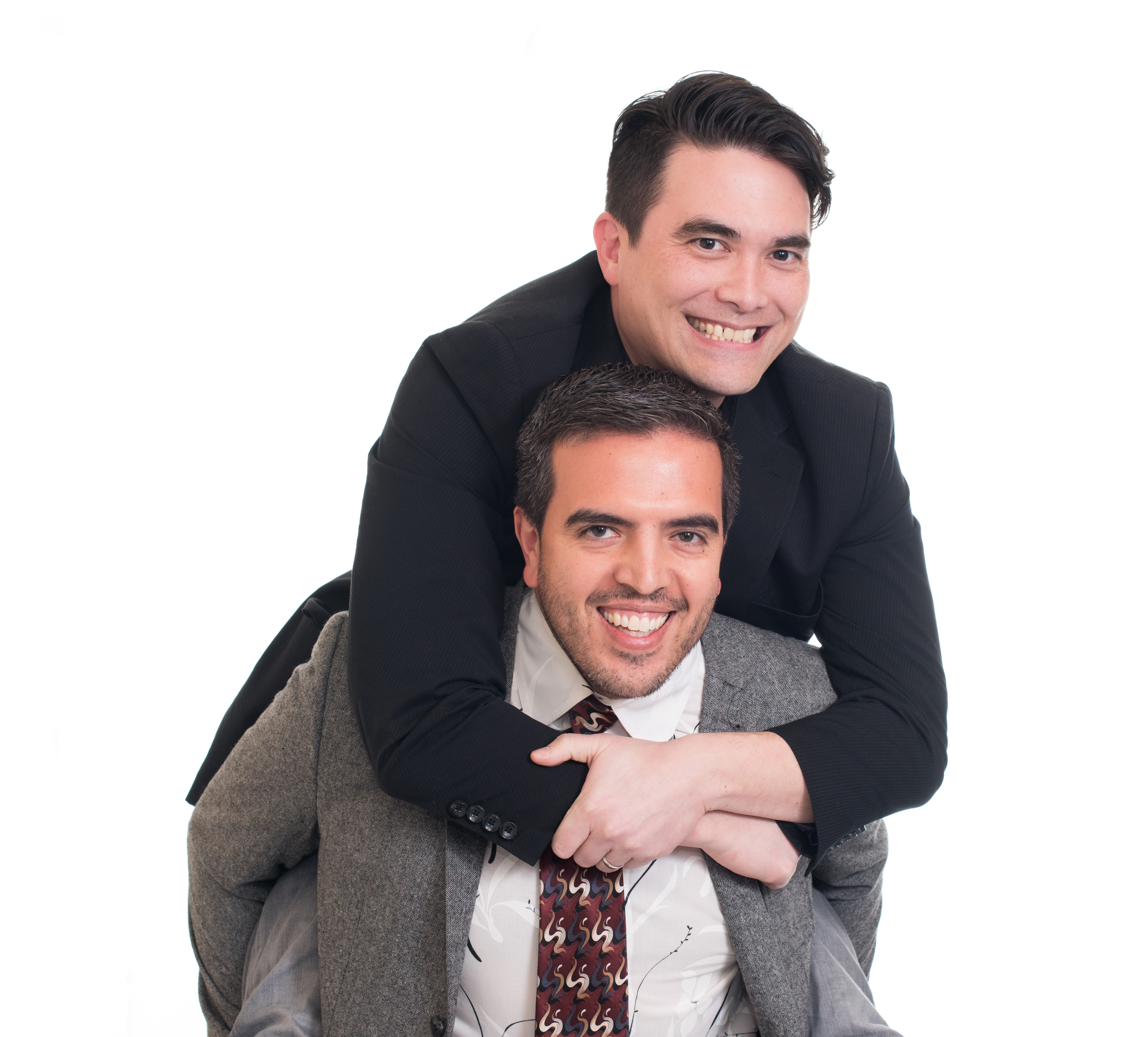 Kirk and Humberto piggybacking photo