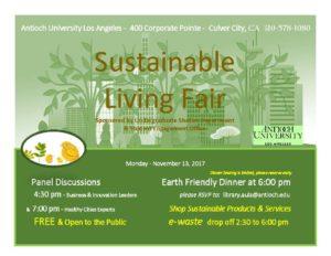 Sustainable living fair advertisement