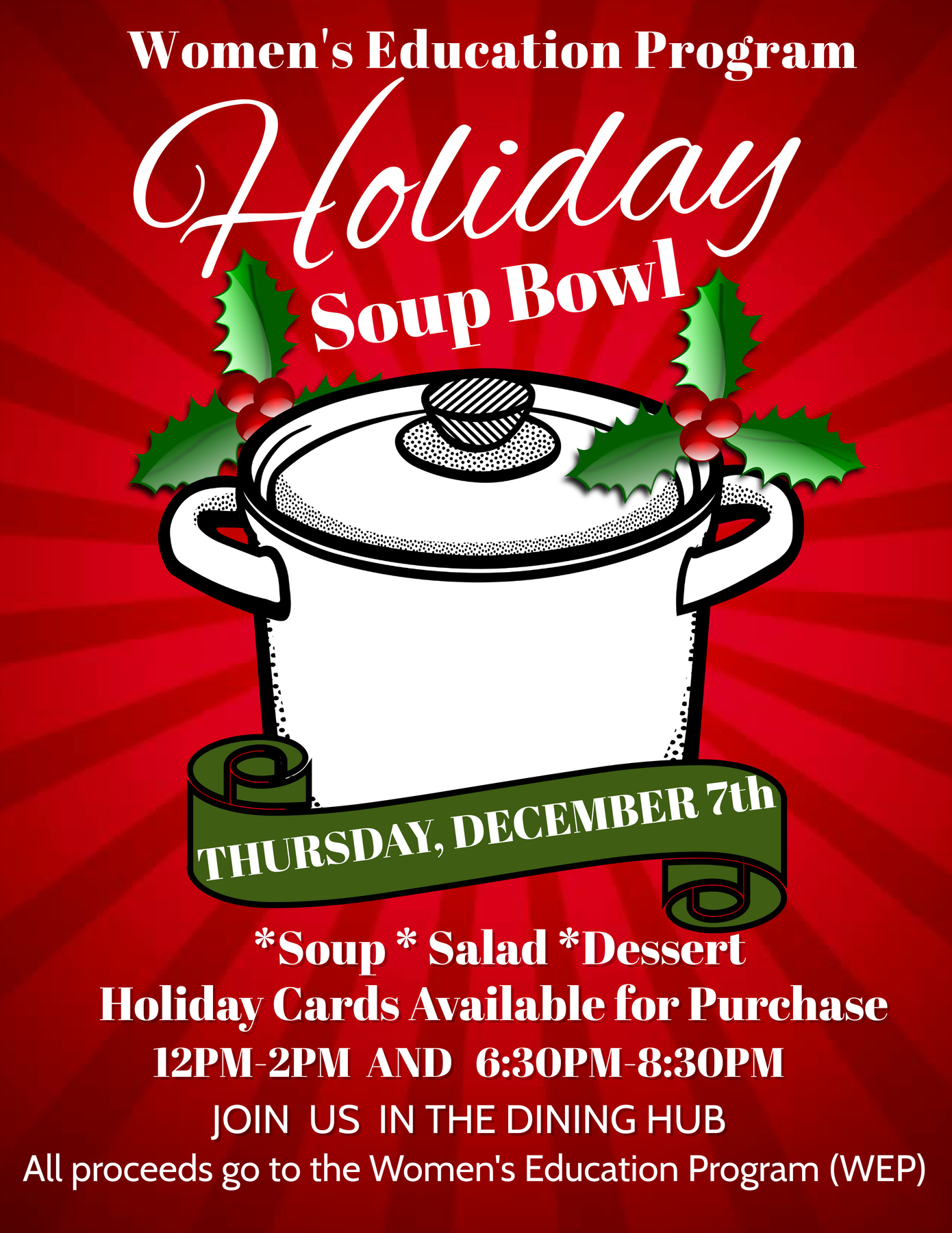Holiday Soup Bowl advertisement
