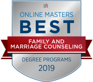 2019 Online Masters Best Family and Marriage Counseling Degrees badge