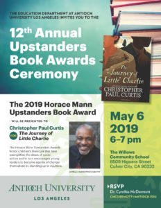Flier for 12 Annual Upstanders Book Awards Ceremony