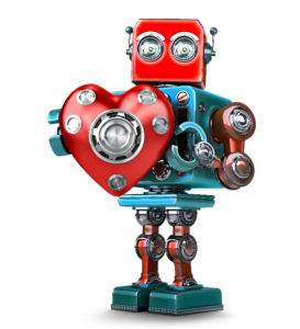 toy robot with heart